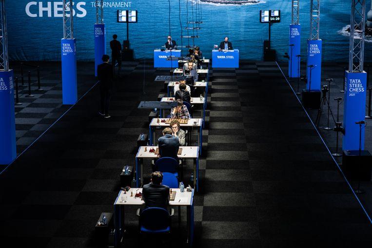 Het schaaktoernooi in Wijk aan Zee moet het dit jaar zonder amateurs en zonder publiek stellen. Beeld Nosh Neneh