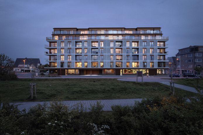 Een toekomstbeeld van 'project Europa' in Bredene met hotel en appartementen.