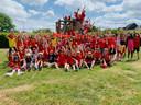 BS Hofkouter roept de leerlingen op om op de matchdagen in Belgische kleuren naar school te komen.