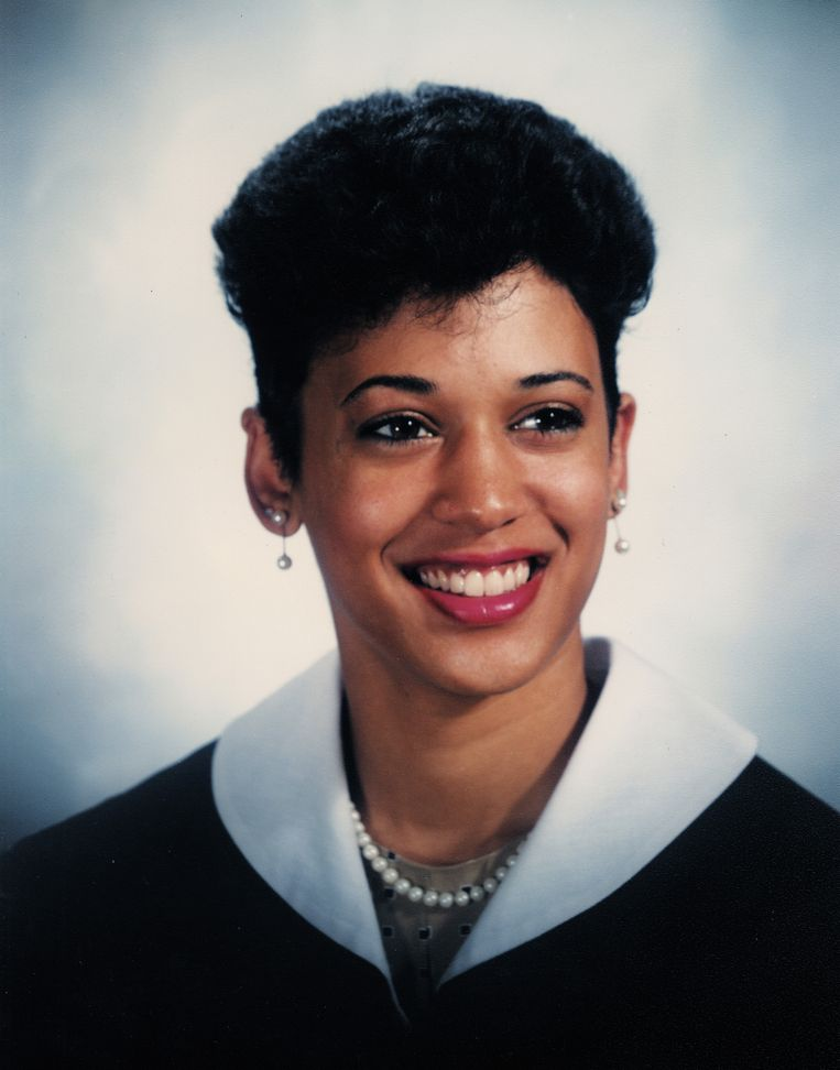 Vice-president Kamala Harris in 1986. Beeld Howard University