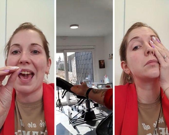 Une tatoueuse liégeoise exprime sa colère dans une vidéo.