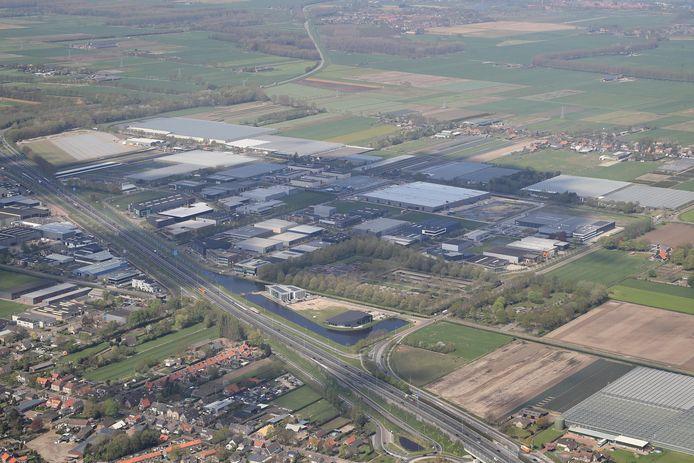 Bedrijventerrein het Hoog in Nieuwkuijk, in 2018. Nagenoeg alle grond is er nu verkocht.