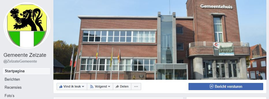 De gemeente Zelzate zit eindelijk op facebook.