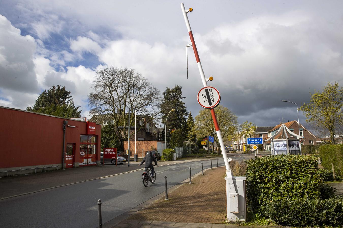 Een grensmarkering bij Dinxperlo.