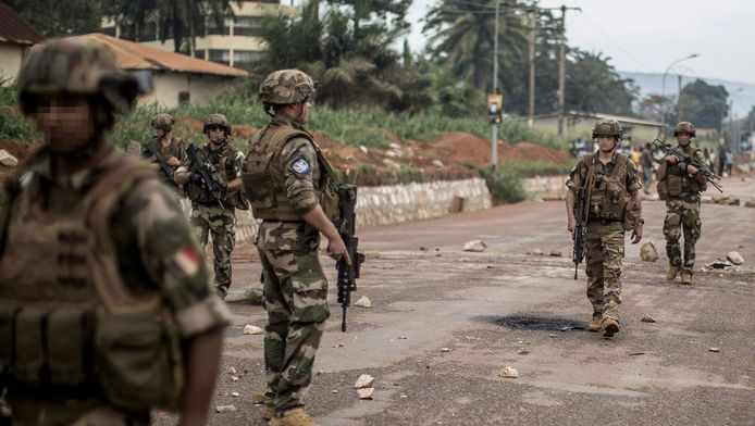 Soldats français à Bangui, capitale de Centrafrique.