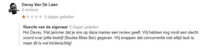 Recensies op Google over de Jeu de Boules in Tilburg