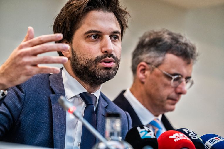 Informateurs Georges-Louis Bouchez en Joachim Coens. Beeld Tim Dirven
