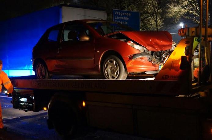 Eén auto blokkeerde de rijstrook en moest worden weggesleept.