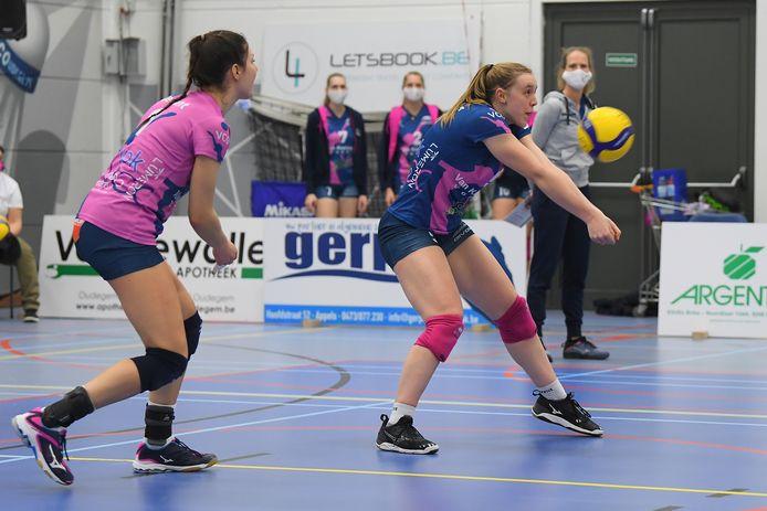 """Nel Demeyer (r.): """"We hebben vrijuit kunnen volleyballen."""""""