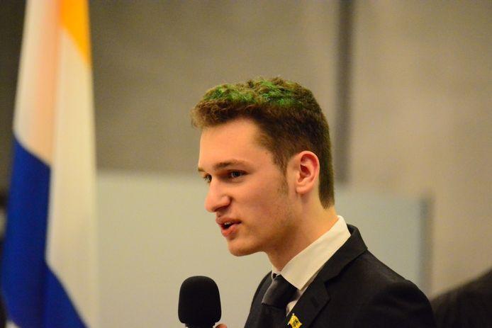 Ywein Joris, voorzitter van Vlaams Belang Jongeren Gent