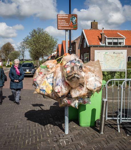 Ondanks ander advies mag plastic afval in Borsele gewoon in de grijze container worden gegooid