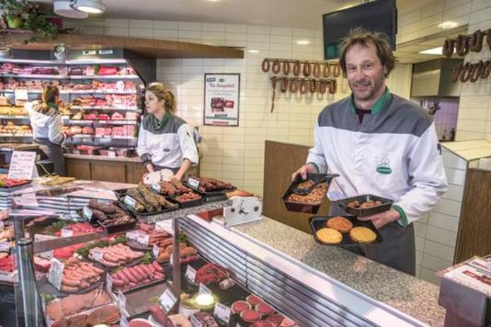 Slagerij Haverkort met zijn vleesvervangers.