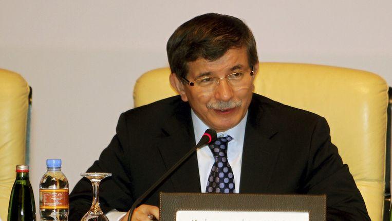 De Turkse minister van Buitenlandse Zaken Ahmet Davutoglu Beeld ap