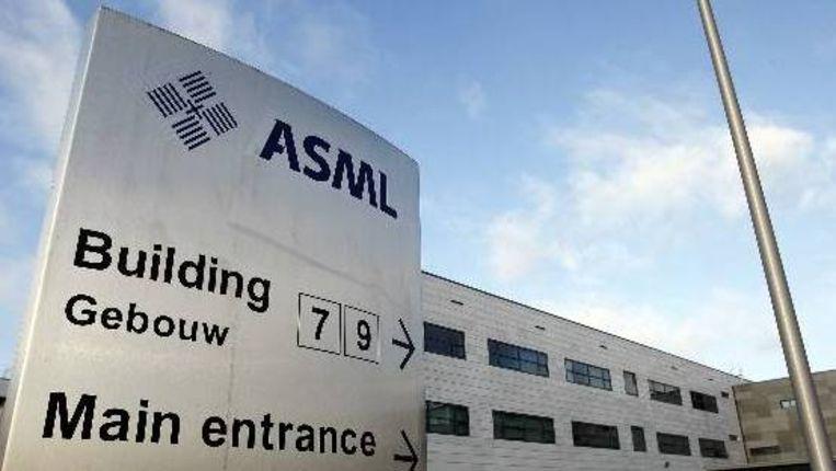 Een kantoor van chipmachinefabrikant ASML in Veldhoven. (ANP) Beeld