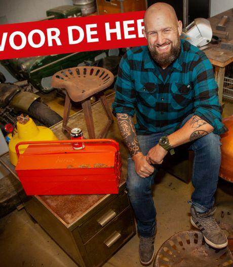 Van industriële werkbank tot emmerlamp: de hobby van Chiel is flink uit de hand gelopen