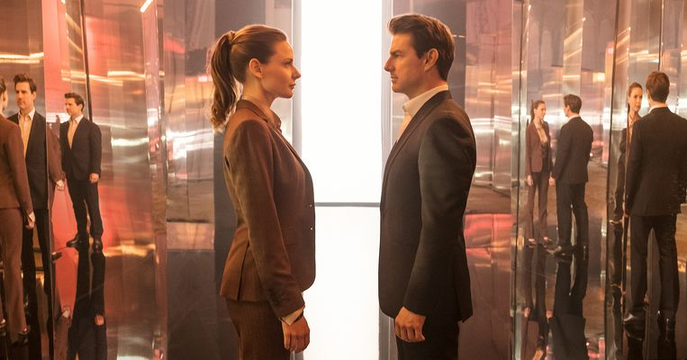Rebecca Ferguson en Tom Cruise in 'Mission: Impossible – Fallout'. Beeld RV Paramount
