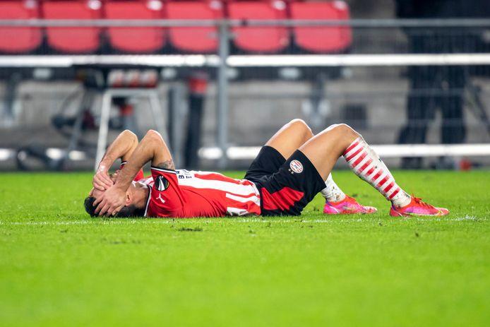Eran Zahavi is kapot van het verlies over twee wedstrijden tegen Olympiakos.