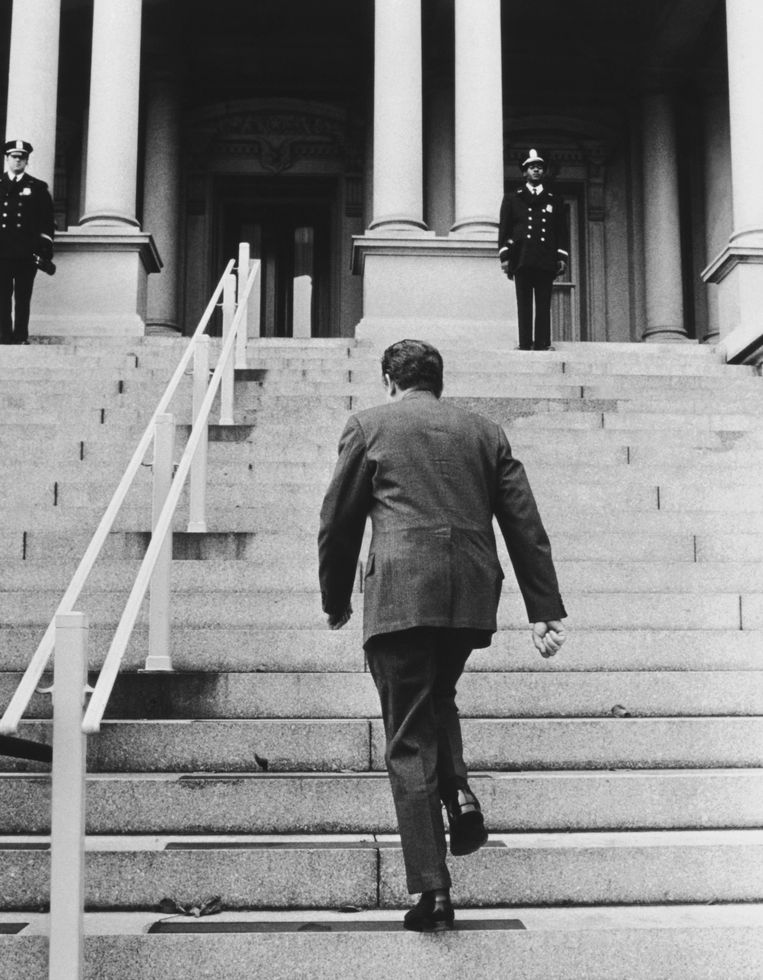 President Richard Nixon, december 1971. Beeld Getty