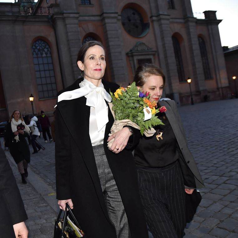 Sara Stridsberg (links). Beeld AFP