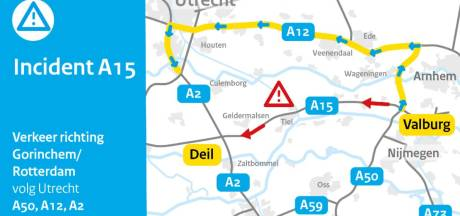 Omleiding vanwege sporenonderzoek na ongeluk op A15