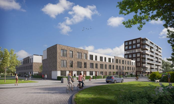 Een impressie van het toekomstige project De Bovenmeester in Schiedam.