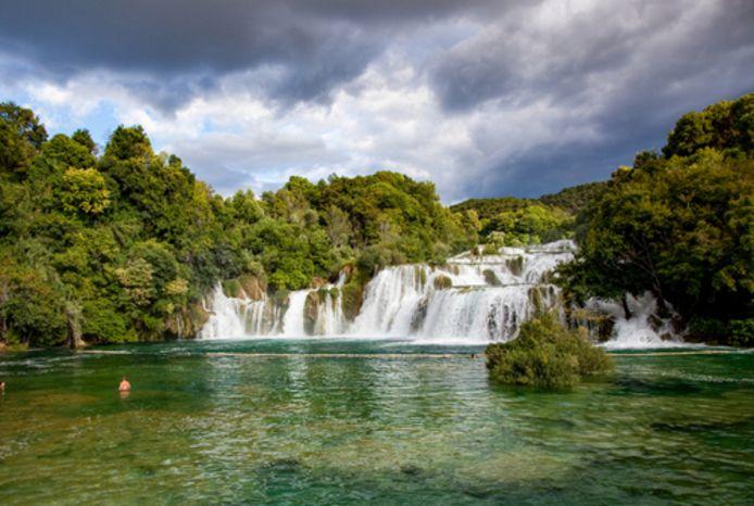 De watervallen van Krka in Kroatië.
