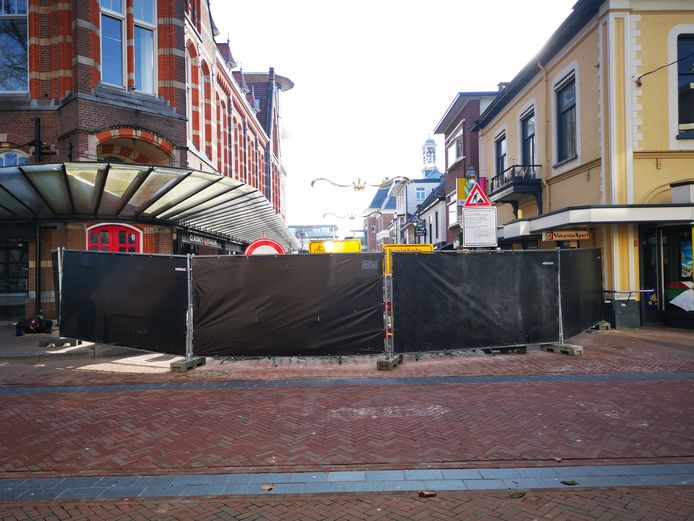 Bouwwerkzaamheden in de Marktstraat en op het Marktplein zijn afgezet.