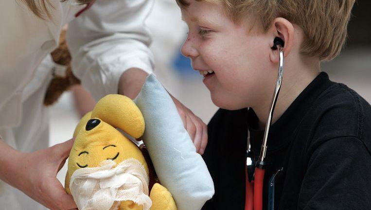 In het Emma Kinderziekenhuis AMC komen per jaar bijna 50.000 kinderen binnen op de polikliniek en worden ruim 5000 kinderen opgenomen. Foto ANP Beeld