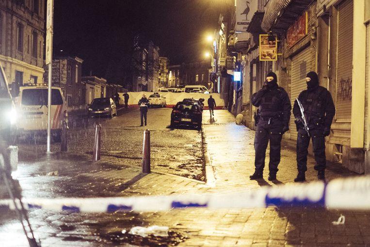 Actie tegen terroristen in Verviers in januari 2015. Beeld Wouter Van Vooren