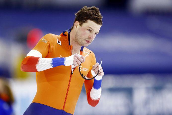 Sven Kramer werd voorlaatste op de 5 kilometer.