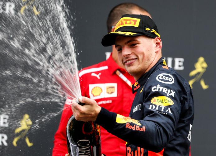 Max Verstappen in 2018 op Spa.