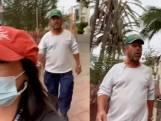 Vrouw filmt man die haar blijft achtervolgen terwijl ze roept om haar met rust te laten