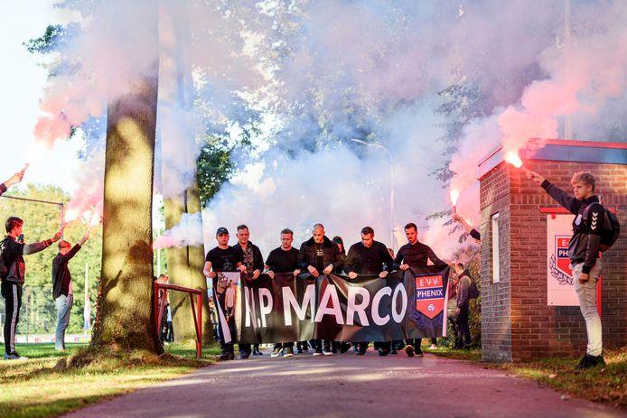 Herdenkingstocht voor Marco van der Kolk.
