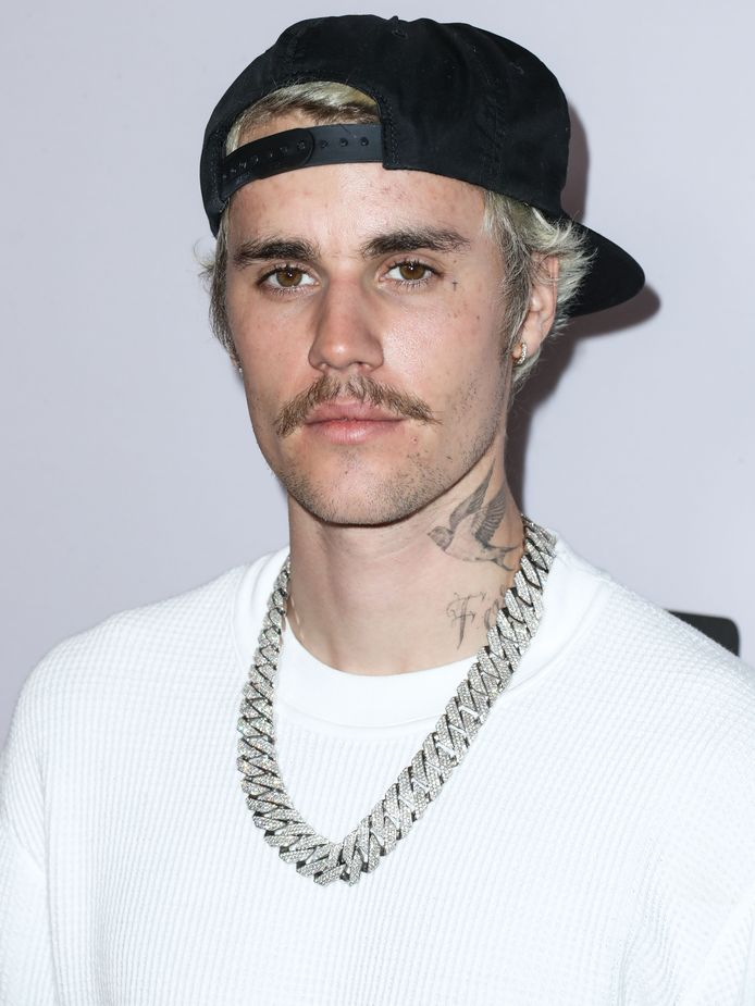 Justin Bieber in januari 2020.