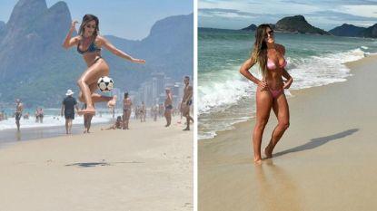 Deze Argentijnse deerne leert je kennismaken met footvolley en toont waarom ze niet toevallig een vriendin van Ronaldinho is