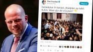 """""""Alle andere vrouwen moesten thuisblijven"""": Theo Francken tweet beeld van nieuwe burgemeester Molenbeek maar krijgt lik op stuk van fotograaf"""