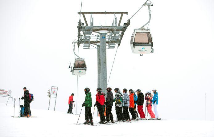 Het Franse skigebied Alpe d'Huez.