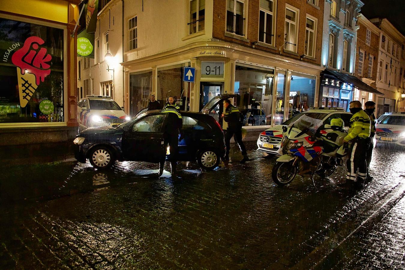 De auto van de man in Bergen op Zoom.