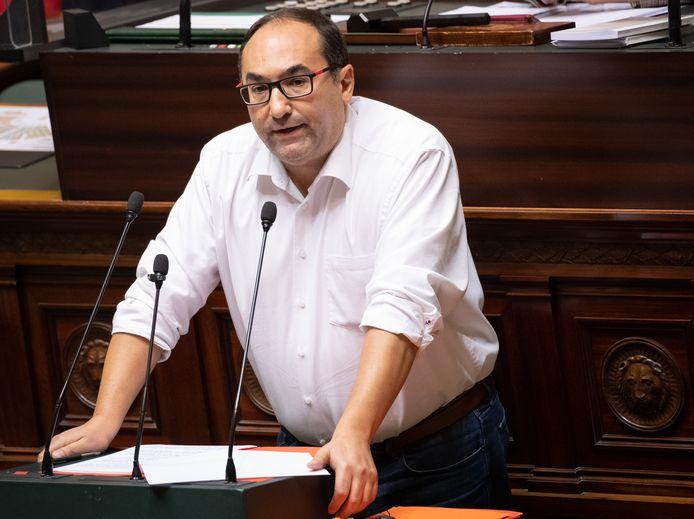 Le chef de groupe PS à la Chambre, Ahmed Laaouej.