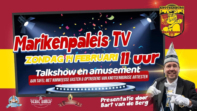 Aankondiging van de Nijmeegse talkshow.