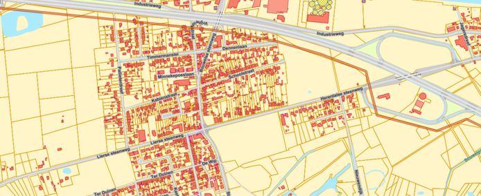 Eén van de mogelijke tracés van de pijpleidingen trekt door Grobbendonk