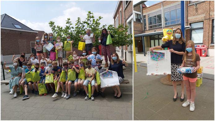 Marie Reichelt uit de Ave Maria Basisschool van Vlezenbeek tekende het winnende ontwerp voor Ezelsoor.