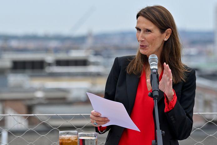 Sophie Wilmès, ministre en charge des Institutions culturelles fédérales.