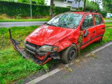 Waarschijnlijk dronken vrouw slaat op de kop met auto in Heeze
