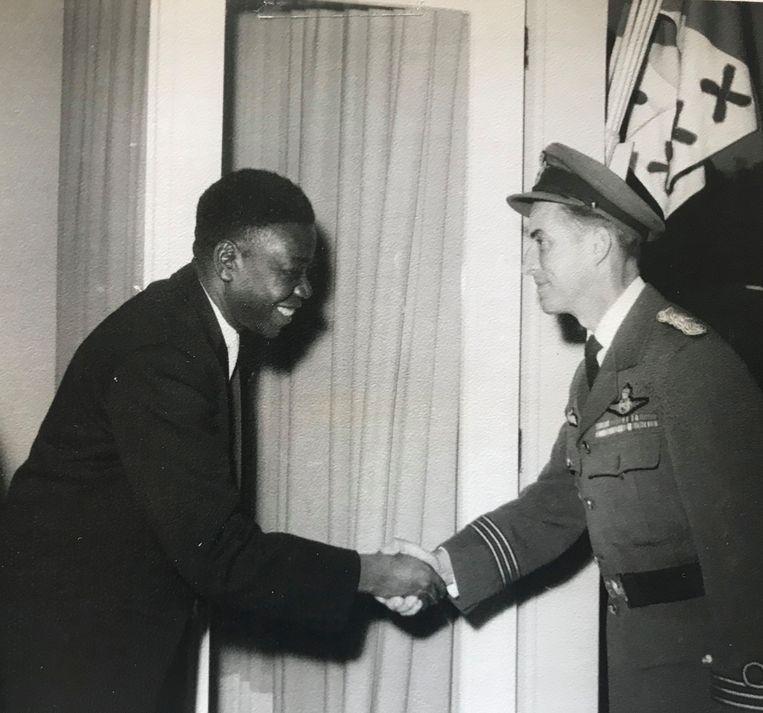Jan Van Risseghem met de Katangese leider Moïse Tshombé Beeld RV