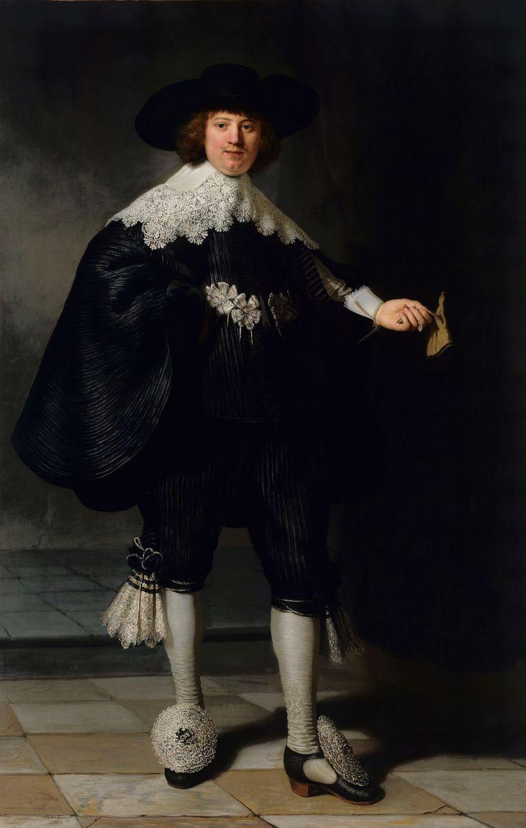 Rembrandts portret van Marten Soolmans.  Beeld Rijksmuseum