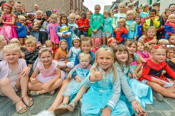 Heel wat kinderen waren vorig jaar van de partij voor de verklede kinderstoet.