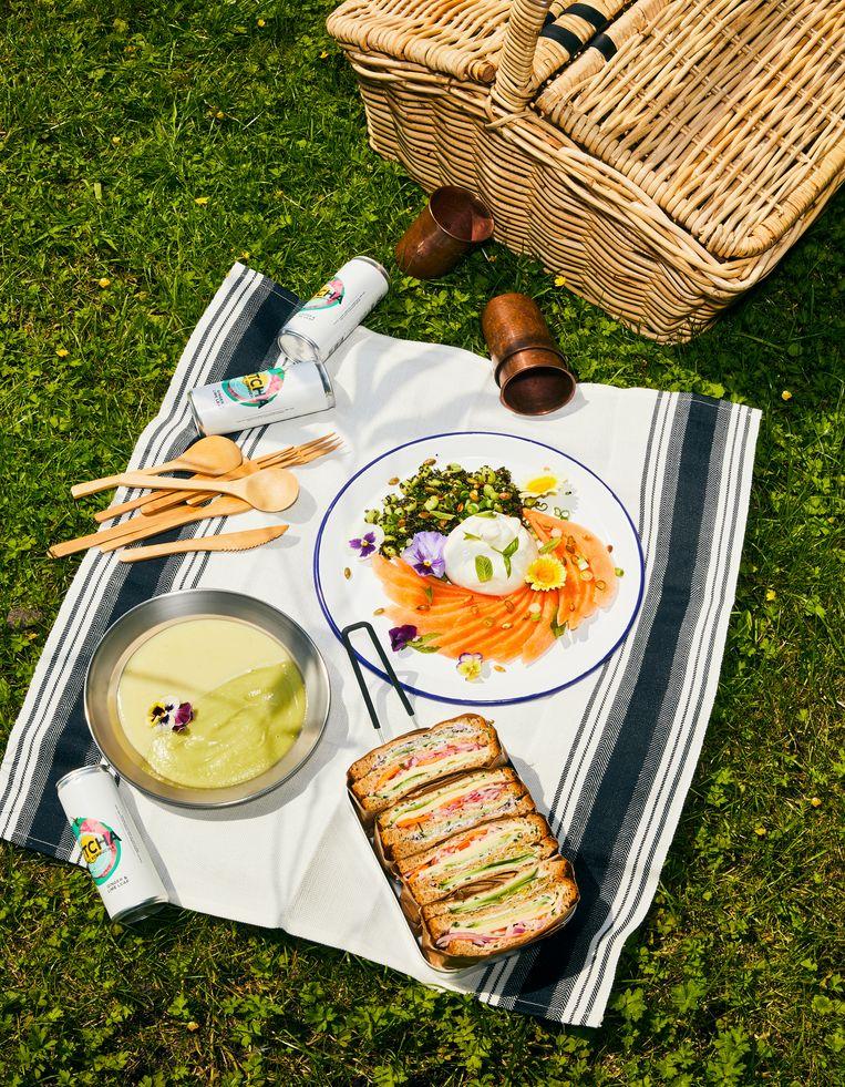 Een Californische-picknick. Beeld Oof Verschuren