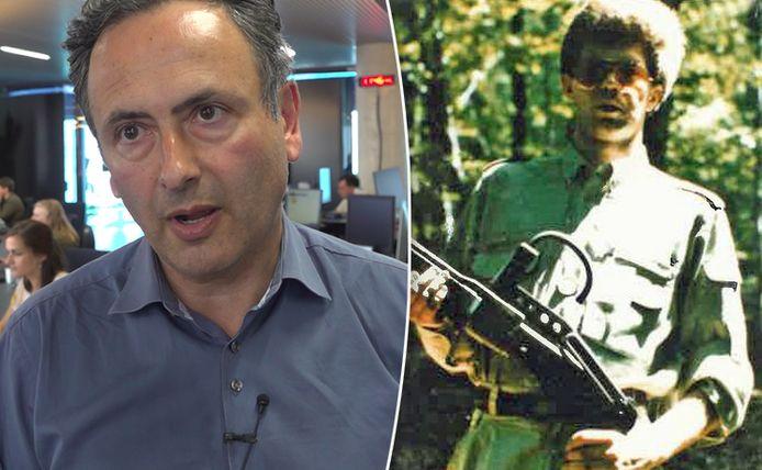 Faroek Özgünes en de net vrijgegeven foto van een onbekende man in het Bende van Nijvel-onderzoek.