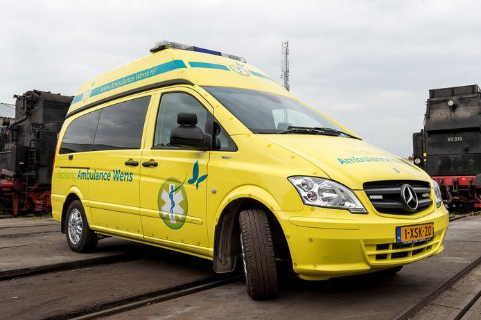 De auto van Stichting Ambulance Wens.